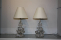 Crystal glass table lamps by Schneider, France c1950 - picture 2
