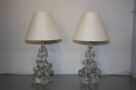 Crystal glass table lamps by Schneider, France c1950 - picture 3