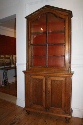 Narrow Dutch Oak cabinet