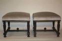 Pair of ebonised wood stools - picture 1