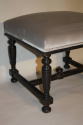 Pair of ebonised wood stools - picture 3