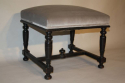 Pair of ebonised wood stools - picture 4
