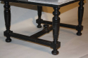 Pair of ebonised wood stools - picture 5