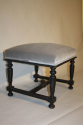 Pair of ebonised wood stools - picture 7
