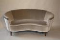 Italian vintage 1950`s velvet upholstered curved sofa. - picture 1