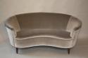 Italian vintage 1950`s velvet upholstered curved sofa. - picture 2