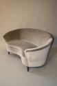 Italian vintage 1950`s velvet upholstered curved sofa. - picture 4
