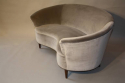 Italian vintage 1950`s velvet upholstered curved sofa. - picture 5