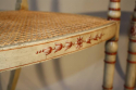 Regency style red and ivory painted open armchairs with cane seats, c1920 - picture 5