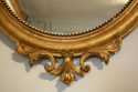 19thC gilt oval mirror - picture 4