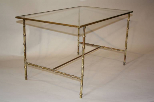 Metal bamboo coffee table