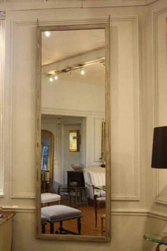 Single tall painted Oak mirror