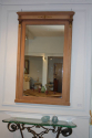 Empire revival stripped wood overmantle mirror. French mid 20thC - picture 2