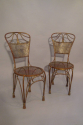 A pair of gilt metal rope twist chairs, French c1930 - picture 1