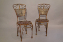 A pair of gilt metal rope twist chairs, French c1930 - picture 2