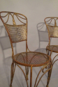 A pair of gilt metal rope twist chairs, French c1930 - picture 3