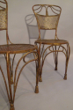 A pair of gilt metal rope twist chairs, French c1930 - picture 4