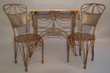 A pair of gilt metal rope twist chairs, French c1930 - picture 5