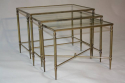 A clear glass and brass nest of tables - picture 3