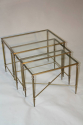 A clear glass and brass nest of tables - picture 4
