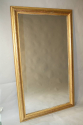 Gold leaf ripple/rope twist framed mercury glass mirror - picture 1