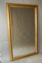Gold leaf ripple/rope twist framed mercury glass mirror - picture 2