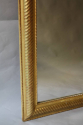 Gold leaf ripple/rope twist framed mercury glass mirror - picture 3