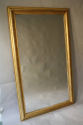 Gold leaf ripple/rope twist framed mercury glass mirror - picture 4