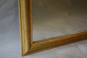 Gold leaf ripple/rope twist framed mercury glass mirror - picture 5