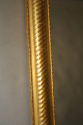 Gold leaf ripple/rope twist framed mercury glass mirror - picture 6