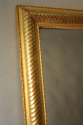 Gold leaf ripple/rope twist framed mercury glass mirror - picture 7