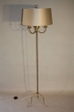 A silver and gold bamboo floor light - picture 2
