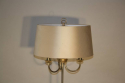 A silver and gold bamboo floor light - picture 3
