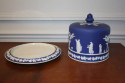 Brownhills pottery blue jasperware cheese dome, c1890. English - picture 2
