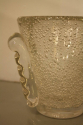 Glass bubble vase by Daum, French c1950. Signed - picture 2
