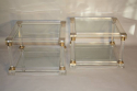 Pair of lucite two tier end tables - picture 1