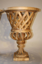 Fantastic pair of large hand made wooden urns, C20th - picture 2