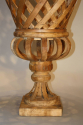 Fantastic pair of large hand made wooden urns, C20th - picture 4