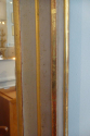 French Louis Philippe serpentine overmantle gilt and gris mirror, c1830 -1848, original mercury glass - picture 3