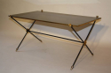 French 1950`s black vitrolite glass table with arrow detail. - picture 1
