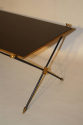 French 1950`s black vitrolite glass table with arrow detail. - picture 2