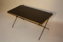 French 1950`s black vitrolite glass table with arrow detail. - picture 3