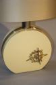 Cream lucite and gold sculpture lamp, c1970, Italian - picture 2