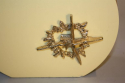 Cream lucite and gold sculpture lamp, c1970, Italian - picture 3