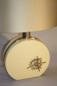 Cream lucite and gold sculpture lamp, c1970, Italian - picture 5
