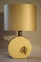 Cream lucite and gold sculpture lamp, c1970, Italian - picture 6