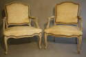 French antique pair of late C19th fauteuils - picture 3