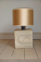 1970`s stone table lamp, tribal influence,  French/Italian origin - picture 2