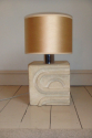 1970`s stone table lamp, tribal influence,  French/Italian origin - picture 3