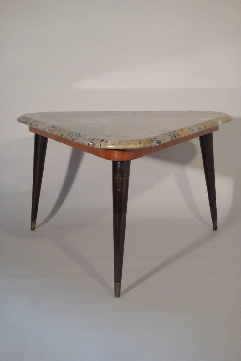 Vintage Italian 1950`s marble side table.